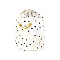 Nobodinoz Baobab Toy Bag SPARKS BLACK HONEY small