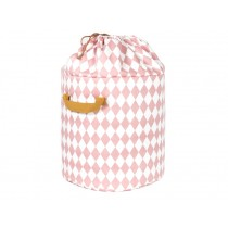 Nobodinoz Baobab Toy Bag Diamonds PINK large