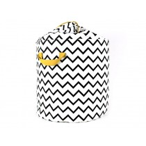 Nobodinoz Baobab Toy Bag Zig Zag BLACK large