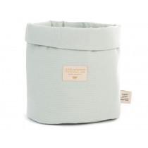 Nobodinoz Panda Storage Basket Honeycomb AQUA medium