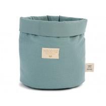 Nobodinoz Panda Storage Basket Honeycomb MAGIC GREEN small