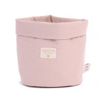 Nobodinoz Panda Storage Basket Honeycomb MISTY PINK medium
