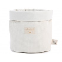 Nobodinoz Panda Storage Basket Honeycomb NATURAL small