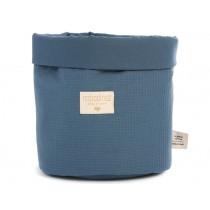 Nobodinoz Panda Storage Basket Honeycomb NIGHT BLUE large
