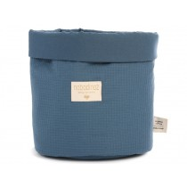 Nobodinoz Panda Storage Basket Honeycomb NIGHT BLUE small