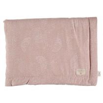 Nobodinoz Mini Blanket Laponia White Bubble MISTY PINK