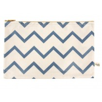 Nobodinoz Roma Pencil Case ZIG ZAG BLUE