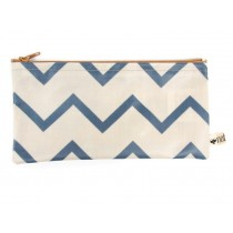 Nobodinoz Verona Pencil Case ZIG ZAG BLUE