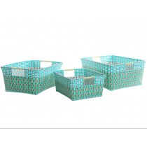 Overbeck storage basket Liv green