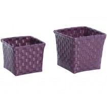Overbeck and Friends flower baskets aubergine