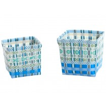 Overbeck and Friends flower baskets Stella turquoise