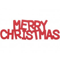 Overbeck & Friends glitter sign Merry Christmas red