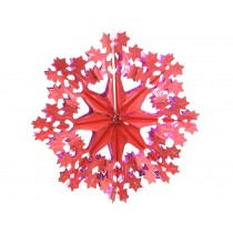 Big X-mas glitter star in red-fuchsia by Overbeck & Friends