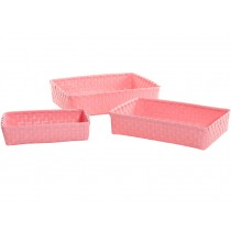Overbeck and Friends baskets rectangular pastel pink