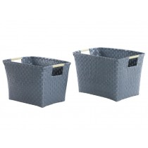 Overbeck basket with handles anthracite