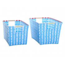 Overbeck basket with handles Leni blue