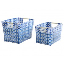 Overbeck basket with handles Liv blue