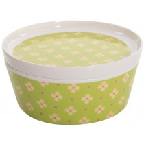 Overbeck and Friends melamine bowl with cover Jamie green