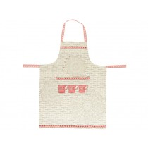 Overbeck apron Veronika red grey