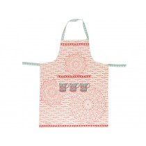 Overbeck apron Veronika red turquoise