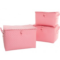 Overbeck toy box pastel pink