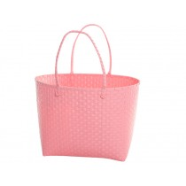 Overbeck and Friends shopping bag pastel pink oval