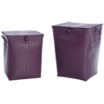 Overbeck laundry basket aubergine