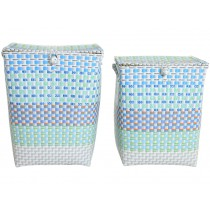 Overbeck laundry basket Grace aqua