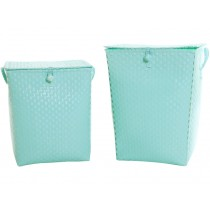 Overbeck & Friends laundry basket pastel turquoise