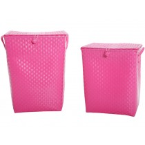 Overbeck laundry basket pink