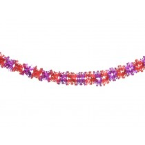 X-mas garland with crowns in red-fuchsia