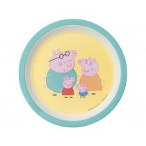 Petit Jour melamine plate PEPPA PIG edged mint