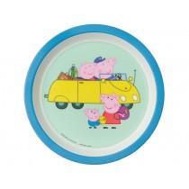 Petit Jour Melamine Plate PEPPA PIG blue