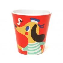 Helen Dardik melamine cup wolf & dog