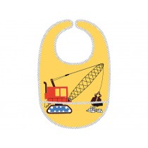 Baby Bib with front pocket Construction Site by Petit Jour