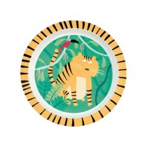 "Kids plate ""In the Jungle"" with Tiger by Petit Jour"