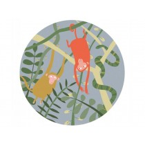 "Kids plate ""In the Jungle"" with Monkeys by Petit Jour"