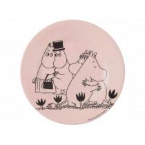 Petit Jour Melamine Plate MOOMINS Goodbye pink