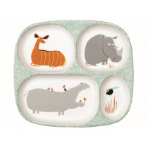Petit Jour Melamine Compartment Plate SAVANNAH