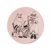 Petit Jour Melamine Plate MOOMINS Camping pink