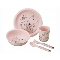 Petit Jour Melamine Tableware Set MOOMINS pink
