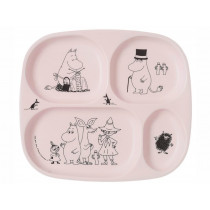 Petit Jour Melamine Divided Plate MOOMINS pink