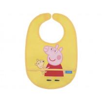 Petit Jour Baby Bib PEPPA PIG yellow