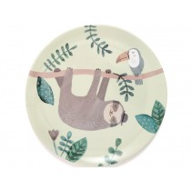 Petit Monkey Melamine Plate SLOTH green