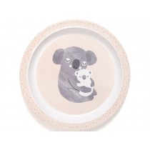 Petit Monkey Melamine Plate with rim KOALA light pink