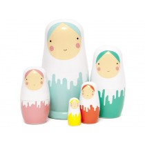Petit Monkey Nesting Dolls DRIPPED