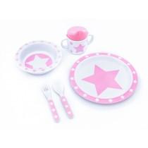 Pimpalou melamine set gift box star pink