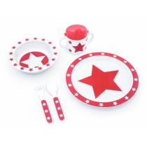 Pimpalou melamine set gift box star red