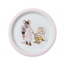 Petit Jour Melamine Plate ERNEST & CELESTINE pink