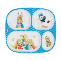 Petit Jour Menu Plate PETER RABBIT blue